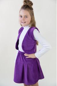 Жилет вельветовый для девочки 55-16651