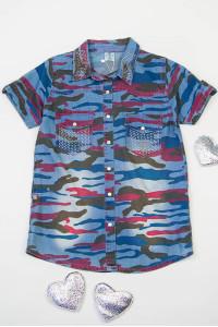 Рубашка для девочек 175-11648