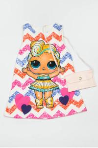 Платье для девочки + сумочка 900-175-11601